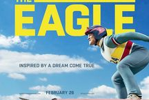 """Eddie The Eagle / Inspired by true events, Eddie the Eagle is a story about Michael """"Eddie"""" Edwards (Taron Egerton), an unlikely but British ski-jumper who never stopped believing in himself – even as an entire nation was counting him out.  With the help of a rebellious coach (played by Hugh Jackman), Eddie takes on the establishment and wins the hearts of sports fans around the world by making an improbable and historic showing at the 1988 Calgary Winter Olympics."""