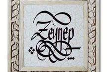 İsim kaligrafi