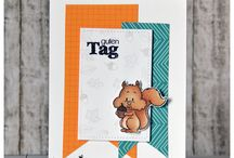 Card making & Paper Craft Fall/Autumn Cards / Fun and whimsically cute images to color and play with - all with Falll and Halloween themes! Join the Gerda Steiner Designs Community at gsd-stamps.com!