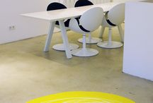 SPLOTCH - a playful way to decorate your floor / splotch is a hand made unique carpet made of PU by Jeanet Hönig