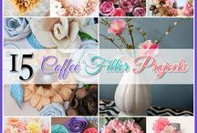 Coffee Filters Crafts / Items you can make with coffee filters