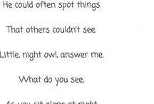 poems for the kiddo's homework
