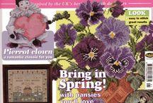 magazines : cross stitch