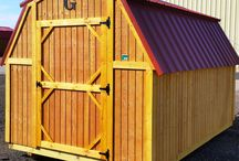 "Barn / Our Side Lofted Barns come with many features, including:  *Pressure treated 4"" x 6"" Support Beams  *Pressure treated 5/8"" flooring  *Pressure treated 2"" x 6"" Floor Joists *Standard wall height 48"" *8' x 12' Has 48"" Single Wood Door *Double Wood Door (72"" x 69"") opening on 10' wide and larger *Soffit vents *Douglas Fir Siding"