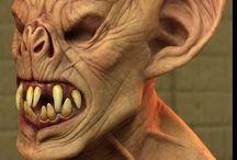 Charakteryzacja FX maski rzeźby