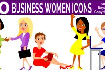 Wide-Eye Business Women Images / A set of free png images or learn how to alter an image yourself using free vector graphic software