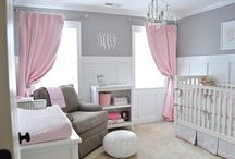 Gray and Pink Nursery / Gray and pink continue to trend in the nursery and let's face it, they're a winning color combo in a baby girl nursery!