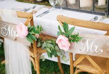 Stuhlschmuck Hochzeitspaar