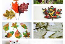 Подделки из листьев