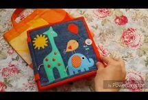 baba foglalkoztató könyv patchwork