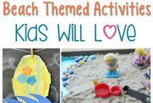 Explore the Seashore / Seashore and tide pool arts and crafts. Lesson ideas for classroom and homeschool teachers. Sensorial ocean activities.