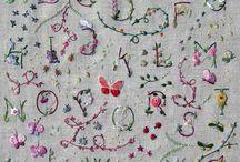 Letras y bordado/ letters and embroidery