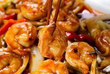 Crevettes sauce hoisin
