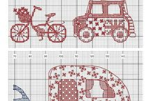 Cross stitch - vehicles