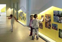 Students work corridors