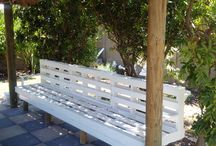 the after results of our beautiful Pallet bench. made by Andre Retirf.