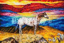 Horses / The Oil paintings from the English artist Alan John Porter. #alanjporterart #kompas #art #horses #painting #oil #beauty #wild #nature