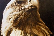Pyrography / Pyrography - is a kind of art. Pictures creates by wood burning