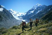 hiking in New Zealand / Hiking in New Zealand