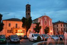 Nizza Monferrato / The city along the course of the Belbo River, Asti province, Italy