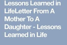 lessons learned from life
