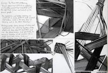 Weaving Inspired drawing and artwork