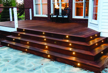 Deck Lighting Ideas / Who says you cant enjoy the outdoors at night. These deck lighting ideas will give you some inspiration to throw some late night parties.