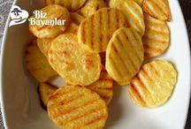 Tost makinesinde patates cips