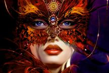 """Beautiful woman in mysterious mask"""