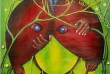 Pierre Bodo (1953 - 2015 ) / Art from Congo-Kinshasa.