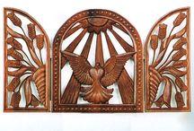 Carving - reliefs II / dřevěný reliéf