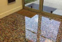 Penny resin floor