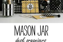 desk decor + organization