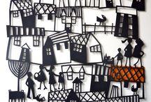 домики город вырезка