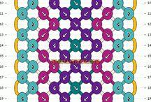 csomózott karkötő minta