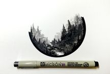 Drawing: Micron pens