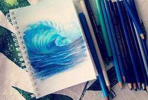 desene în creioane colorate