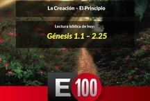 Lecturas E100 / 100 esenciales. Campaña de lectura de la Biblia. Comienza 8 de Abril en las redes sociales / by Sociedad Biblica Chilena