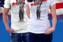 American Cities T-Shirts / T-shirts with artistic designs featuring American cities. Philadelphia , New York , Boston etc.