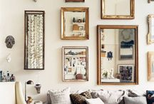 Mirrored wall frames