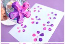 Activité manuelle fleur