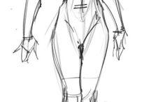 anatomy/sketch/study