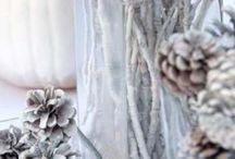 Herbst- und Weihnachtsdeko mit Zapfen