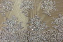 lace embroidery saree