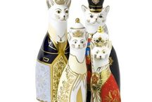 Royal Crown Derby Cats