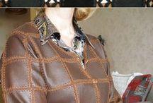 Вязание с мехом и кожей