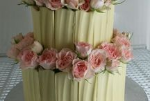 wedding cake - floral decor