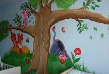 Mit Liebe gedacht, gemalt und gemacht♡ / Bunte Wand im Kinderzimmer :-)