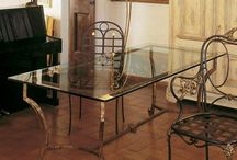 Wrought iron tables / Wrought iron dining tables, coffee tables and lamp tables