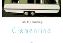 My Caravan Makeover / A revamp of our 1970s caravan, affectionately named Clementine, using tangerine and turquoise retro colours - my favourite. www.bluenautilus.co.nz